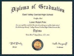 School diploma not authentic